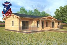 Twin Skin Log Cabins / Our Twin skin log cabins made from engineered glulam timber are the best interlocking twin skin log cabins on the market! If you are looking for a quality twin skin residential glulam log cabins 4 bedroom 6.7m x 18m please give us a call.