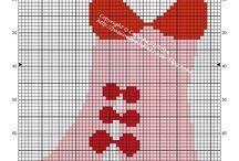 Point de croix lingerie