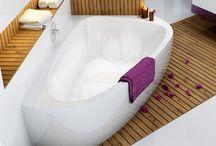Baignoires - Bathtubs / Des baignoires design, rectangulaire, asymétrique ou encore d'angles !