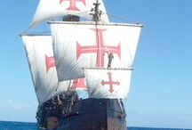 Historical replicas of tall ships