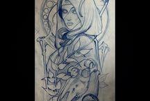 Drawing Tattoo Frame