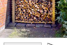 Outdoor log holder