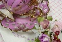 limoges cups-dishes