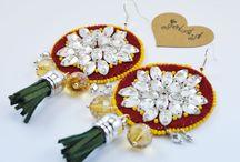 handmade earrings / all these earrings are made by Sperkarik.sk