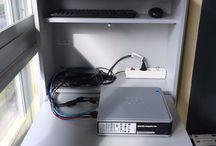 Armario rack para la CPU de la pizarra digital / Armario rack para guardar la CPU y demas componentes o accesorios  de la pizarra digital (teclado inalambrico, puntero ,raton,etc)