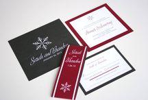 Snowflakes wedding
