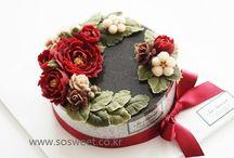 Torty kwiatowe krem