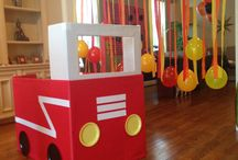 fire truck theme birthday party