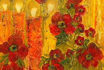 My paintings 2 / paintings, art, my paintings canvases, nature, flora, flowers.