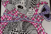 Sylvie Jaulin / dessin en zentangle