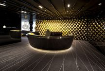 interior design: companies receptions / main halls