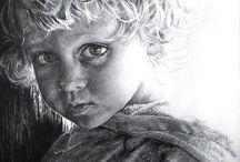 Kresba Tužkou / portrét dítěte