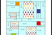 Quilt backing layouts