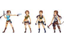 z - pixel art - Tomb Raider