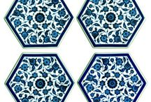 Iznik Tile Hexagonal Coasters