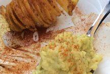 Piatti con le patatine fritte