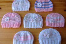 Knitting - baby's hats