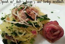 Low Carb Main Dishes / Main dishes using squash, cauliflower, veggies, etc.