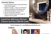 Show Us Your Howard Elliott Contest / Send us your design installation or showroom display featuring Howard Elliott Product and you could win $500!! Send to cwelk@howardelliott.com.  Help us choose the winner. LIKE your favorites