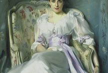 """John Singer Sargent / John Singer Sargent (1856 – 1925) was an American artist, considered the """"leading portrait painter of his generation"""" for his evocations of Edwardian era luxury. During his career, he created roughly 900 oil paintings and more than 2,000 watercolors, as well as countless sketches and charcoal drawings. His oeuvre documents worldwide travel, from Venice to the Tyrol, Corfu, the Middle East, Montana, Maine, and Florida."""