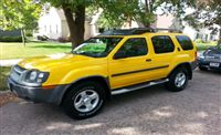 Used 2004 Nissan Xterra for Sale ($7,495) at  La Crosse, WI / Make:  Nissan, Model:  Xterra, Year:  2004 , Exterior Color: Yellow, Interior Color: Gray, Doors: Four Door, Mileage:117,500 mi,  Fuel: Gasoline, Engine: 6 Cylinder, Transmission: Automatic, Drivetrain: Rear wheel drive.   Contact:608-317-7207  Car ID (56701)