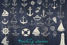 Nautical Love / Find beautiful nautical clip art designs and patterns