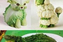 verduras y frutas.....decoradas