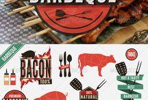 Food graphic art