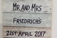 Wedding Sign, Signs for a wedding, anniversary gift or christening or naming ceremony