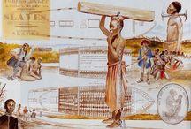 Slavernij / Vroeger werd er gehandeld in mensen. Dat vond men toen heel gewoon. Ook Nederlandse kooplieden deden mee aan de handel. In 1863 werd de laatste slavernij afgeschaft in Suriname.