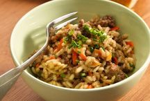 Beef risotto