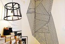washi tape & paredes / Paredes decoradas con washi tape