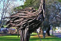 driftwood statues