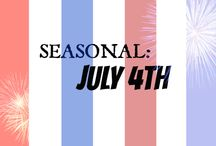 """HOLIDAY: July 4th"" / All things July 4th  / by Wanna Bite"