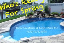 Who's Ready for Spring - Stone Creations of Long Island Inc. / Our company is based on the belief that our customer's needs are of the utmost importance. Our entire team is committed to meeting those needs. As a result, a high percentage of our business is from repeat customers and referrals. Stone Creations of Long Island specializes in hardscape designs and outdoor living. We also compliment the hardscapes with beautiful and distinct softscapes CALL TODAY!! (631) 678-6896 (631) 404-5410 www.stonecreationsoflongisland.net / by Stone Creations of Long Island