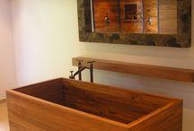 Bath in Wood / Hand made luxury hardwood bathtubs, the heart of a bathroom.