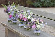 Jam jar wedding tables