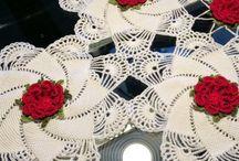toalhinhas de crochê  e outros / artesanato