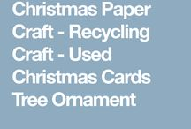 recycled Christmas card crafrs