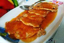 lomo con salsa pimiento