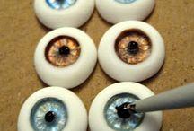 фьюзинг-глазки для кукол
