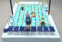 Swimming pool cakes