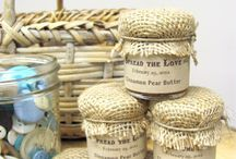 wedding ideas (group) / I have my dress, my ring, & my man. The colors are canary yellow & gray. The theme is rustic. Lots of Mason jars & burlap :) add games, decor, & such