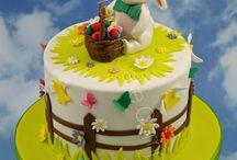 Gâteaux de Pâques - Easter Cakes / Des gâteaux, cupcakes et cookies très original pour les fêtes de Pâques - Lovely Easter cake, cupcakes and cookies all decorated by hand