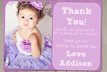 Invitations and Thank You Cards - little birthdays!
