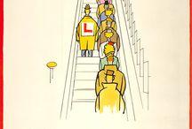 afiches vintage 150 años del metro en londres