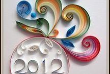 New year / újév / quilling