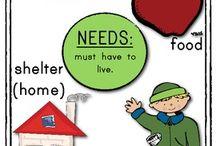 social studies_Needs/Wants / by Jo-Ellen Rowley