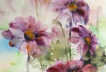 Watercolours painting