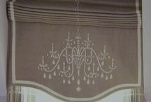 Decorative roman blinds